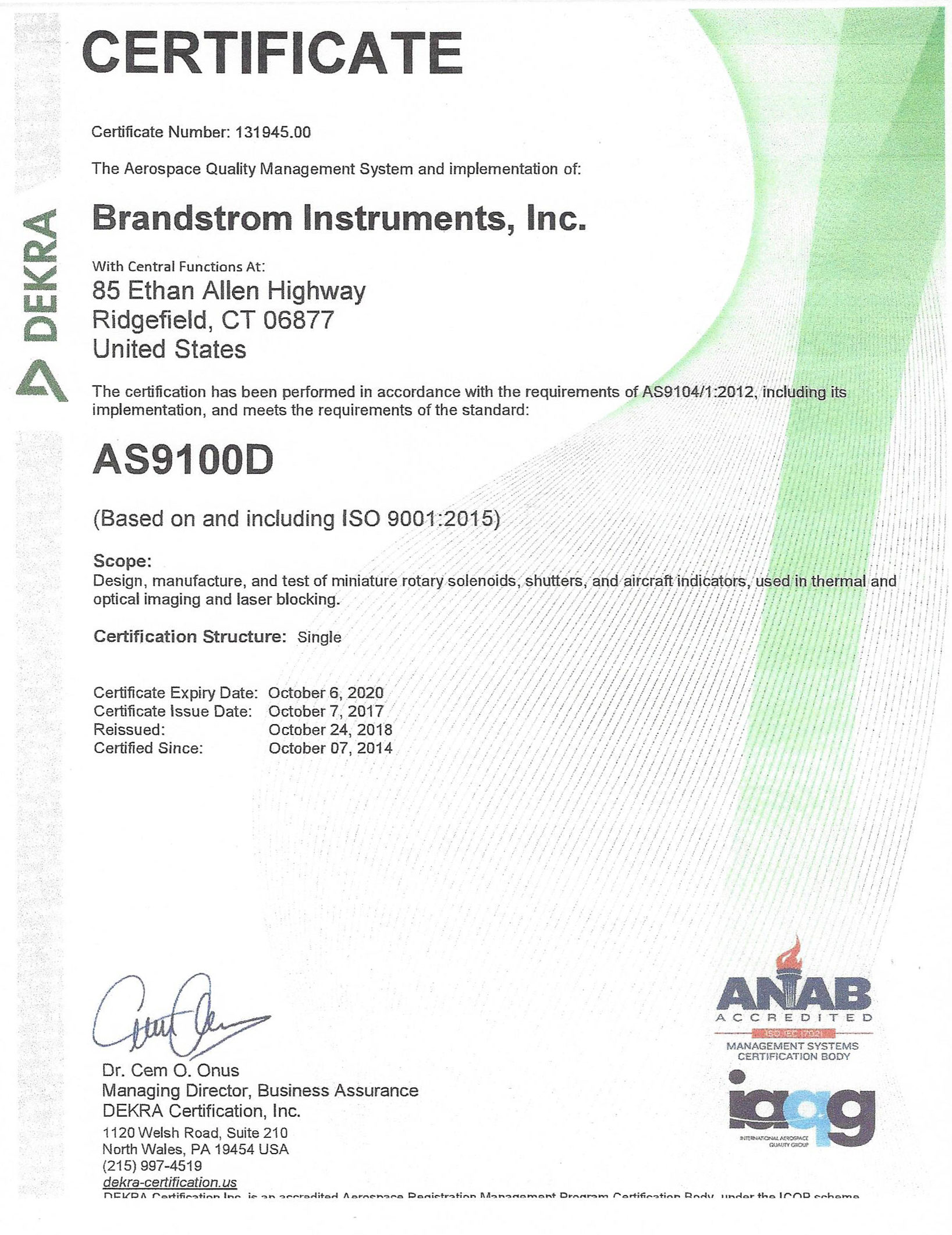 Iso Certification Test